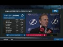 Jon Cooper Tampa Bay Lightning at Washington Capitals 02 20 2018