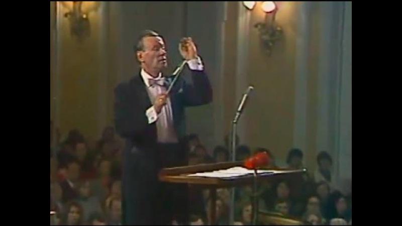 Evgeny Svetlanov conducts Mendelssohn Symphony no. 4, 'Italian' - video 1981