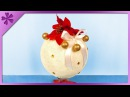 DIY How to make big Christmas ball out of bandage ENG Subtitles - Speed up 433