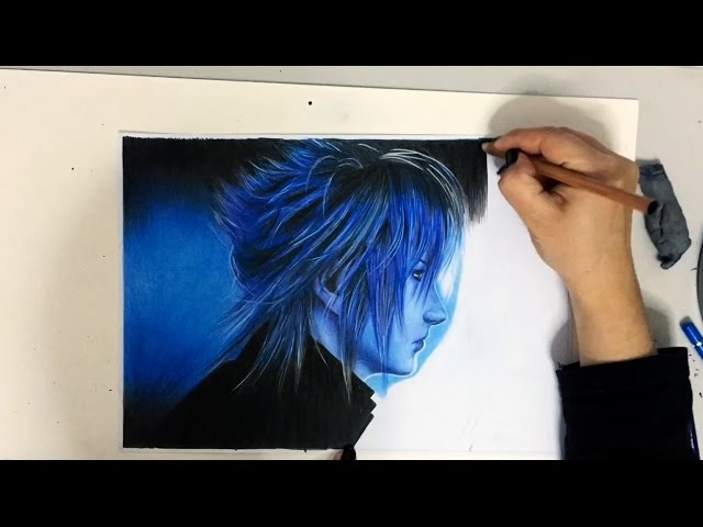 Drawing Noctis from Final Fantasy XV