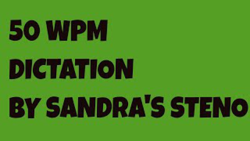 50 WPM ON COMMON CARRIER JURY CHARGE SANDRA'S STENOGRAPHY SHORTHAND DICTATION