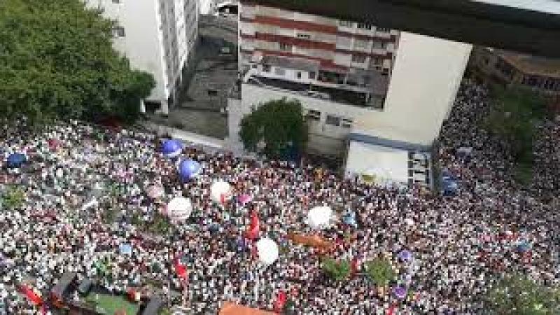 MANIFESTAÇÃO MONSTRUOSA de professores em greve contra Doria e a reforma da previdência municipal