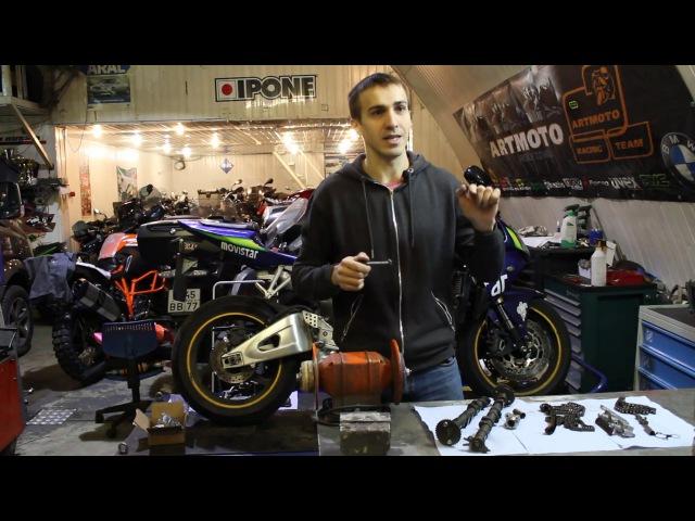 Обрыв цепи ГРМ на мотоцикле Разорвет ли мотор