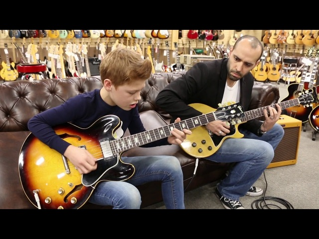 Toby Lee with Mark Agnesi playing a 1963 Gibson ES-335TD 1956 Gibson Les Paul TV Special