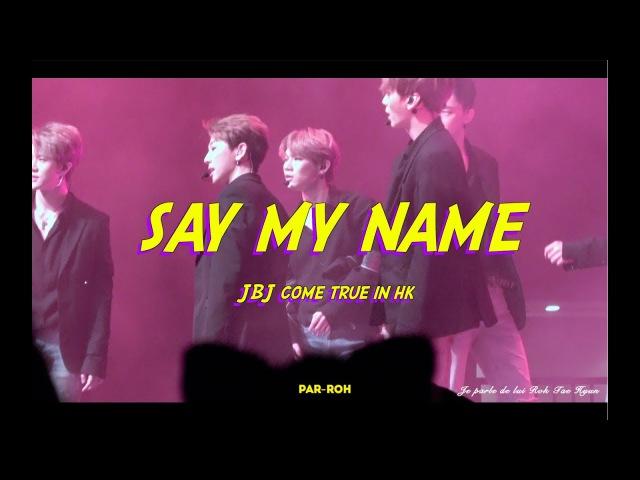 [4k] 20180106 JBJ Come True In HK Say My Name TaeHyun(태현) focus