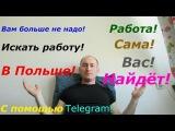 Вам больше не надо искать работу в Польше! Работа сама вас найдёт! С помощью Telegram!