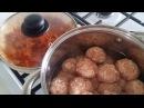 Тефтели с рисом в томатном соусе очень вкусно и быстро