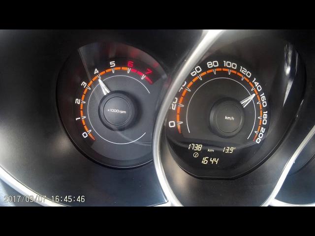 Lada Vesta Exclusive 1.8 на механике, разгон на верхах.
