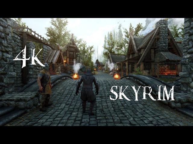 SKYRIM HEAVILY MODDED GAMEPLAY SHOWCASE 4K 60FPS