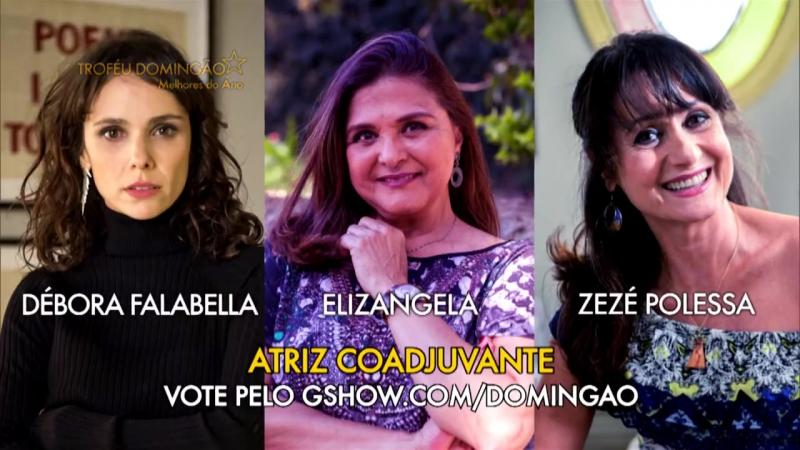 Troféu Domingão 2017 vote na categoria Atriz Coadjuvante