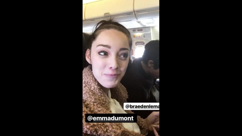 Instagram stories by Emma Dumont
