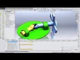 Карданная передача. Анимация в SolidWorks