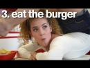 SLs Sofie Dossi BUSTED for eating with her feet at In Out