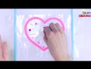 How To Make A Heart Wallet Out Of Clear Tape And Glitter DIY Glitter Heart
