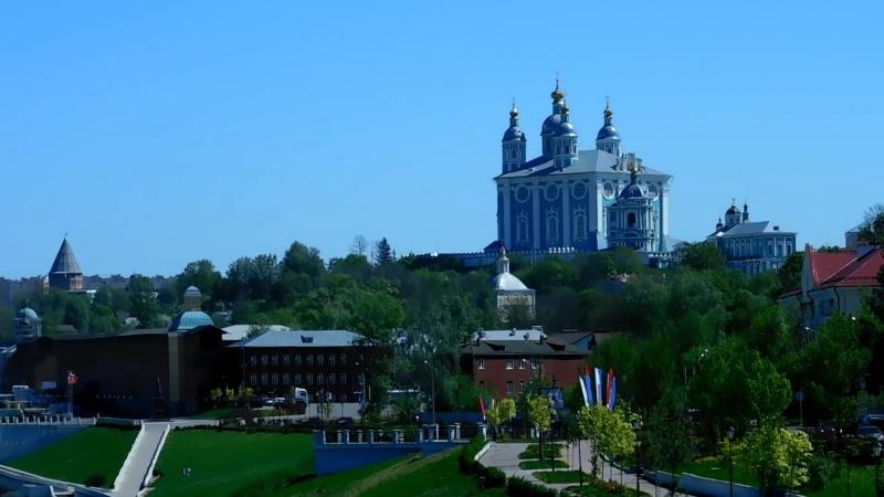 Набережная Днепра в Смоленске.