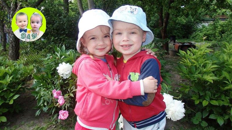 Денис и Виктория в деревне у бабушки, Denis and Victoria in the village at the grandmother's,