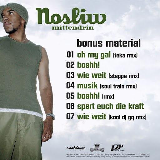 Nosliw альбом Mittendrin (Bonus)