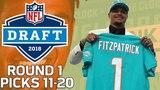 Picks 11-20: More Trades, & A lot of Defense! | 2018 NFL Draft