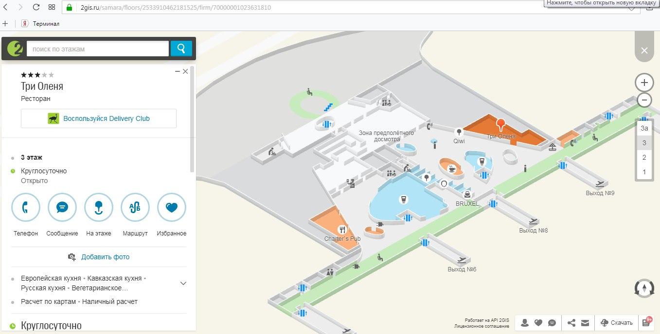 Скриншот сайта 2ГИС