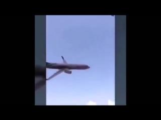 Ужасное крушение самолёта