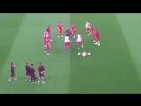 Atletico разминка перед матчем от Óscar El Profe Ortega