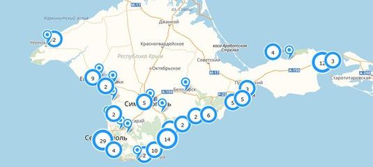 Карта веб-камер Крыма