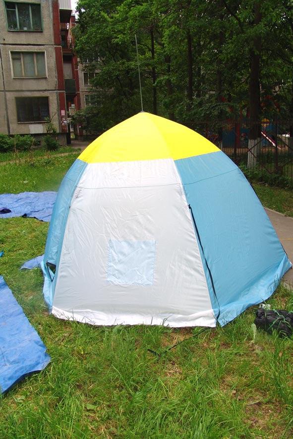 Советы начинающим: Непромокаемое дно в палатку-зонт