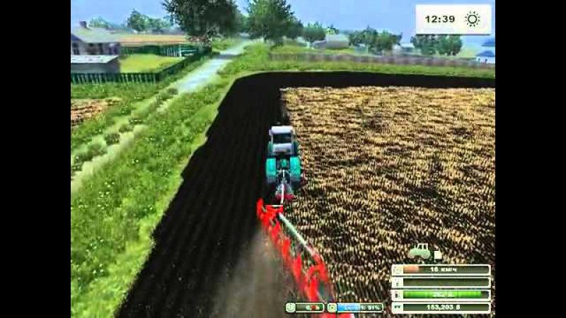 Вспашка поля трактором Т-150