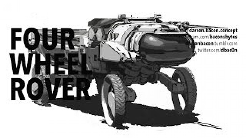 Concept Department: Four Wheel Rover sketch