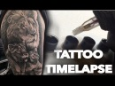 TATTOO TIMELAPSE LIONS CHRISSY LEE REAL TIME