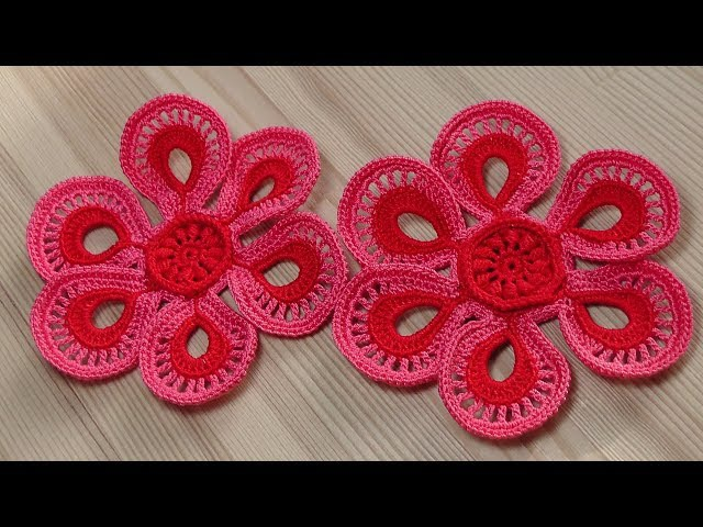 Вязание мотива для ирландского кружева Crochet motifs for Irish lace