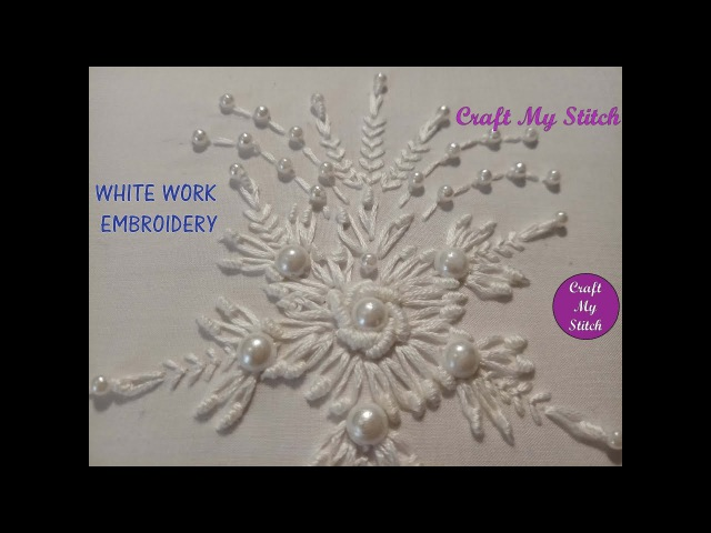 Hand Embroidery White work CMS 17 18