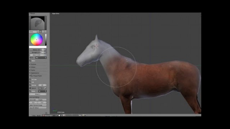 Unwrapping and Texturing in Blender 3d (Clone Painting)