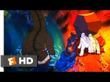 The Land Before Time (910) Movie CLIP - Petrie Saves His Friends From Sharptooth (1988) HD