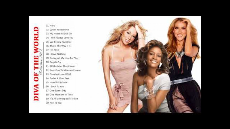 Mariah Carey, Celine Dion, Whitney Houston : Greatest Hits - Best Songs of World Divas