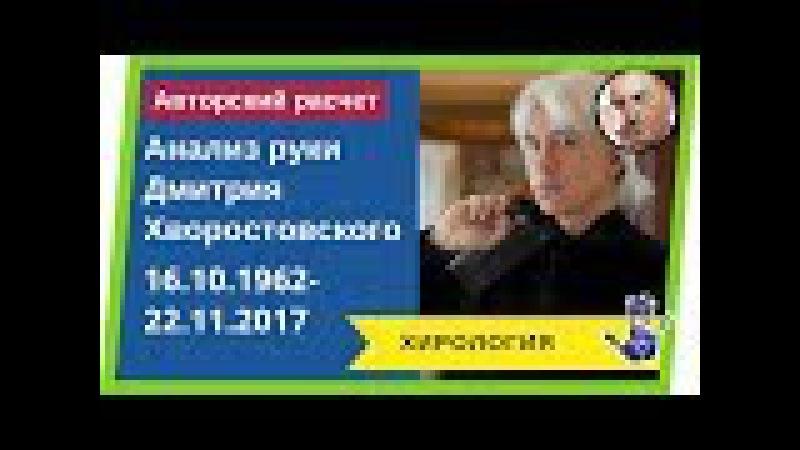 Hiromantiya. Описание линий (признаков) болезни и смерти на руке Дмитрия Хворостовско ...