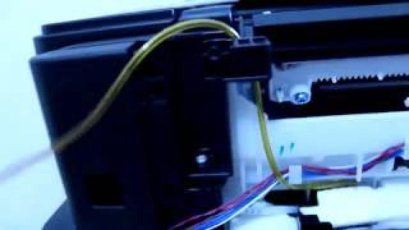 Impressora Canon Maxx Tinta - Colocando o dispenser (coletor de resíduos)