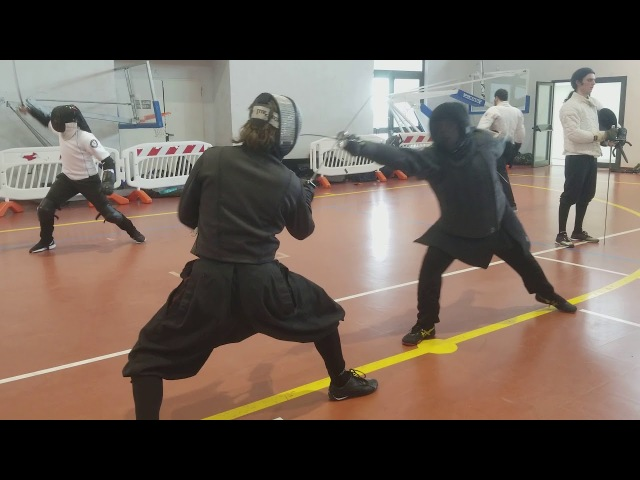 Smallsword Free-Fencing. Pascal v Cupp. AIMA 2018