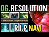 WTF 3x Strike lv25 OG.Resolution Morphling Carry RIP Navi Dota 2