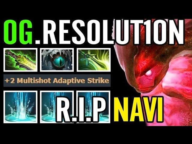 WTF 3x Strike lv25 OG.Resolution Morphling Carry RIP Navi Dota 2
