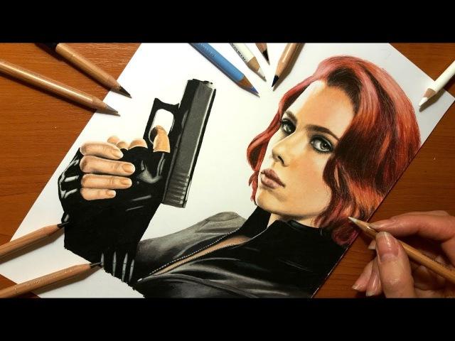 Speed Drawing: Black Widow   Jasmina Susak