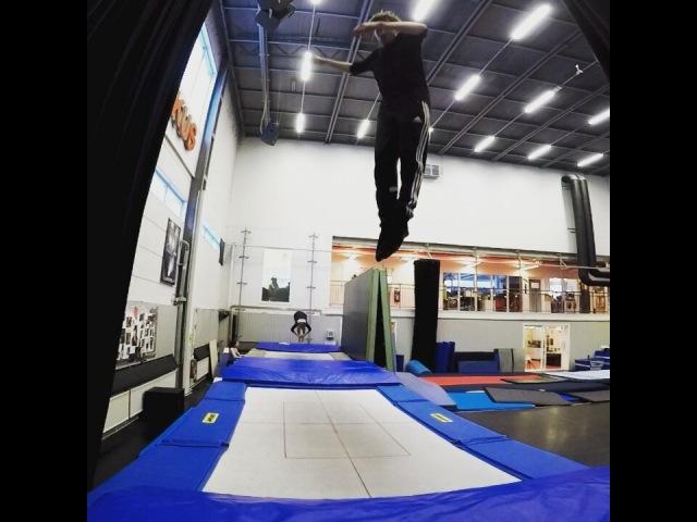 "Aaron Hakala on Instagram: ""Poop sequence. trampoline circus circusaroundtheworld gopro goprohero5"""