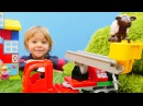 Lego oyunları Daniel itfaiye arabası yapıyor ve kuzuyu kurtarıyor