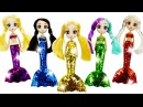 Куклы Русалки Наряды из пластилина Плей До для кукол Шибаджуку Play Doh Mermaid Dress Up Shi...
