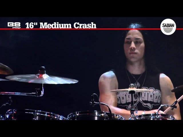 16 B8 Pro Medium Crash by SABIAN demo video- Featuring Tim Yeung