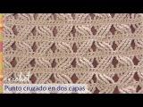 Punto cruzado en 2 capas tejido a crochet Tejiendo Peru