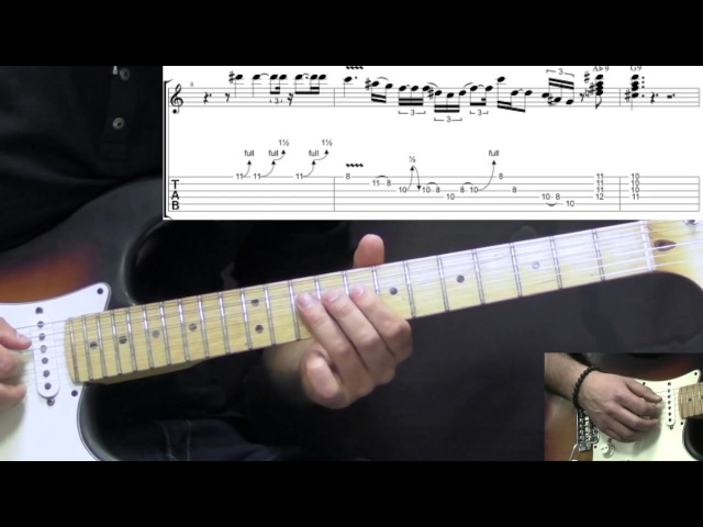 Stevie Ray Vaughan - The Sky Is Crying (Part 1) - Blues Guitar Lesson (wTabs)