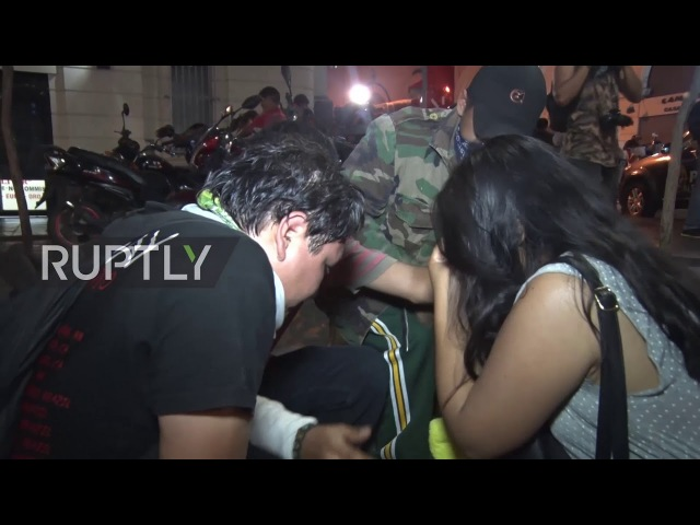 Peru Students clash with police over new labour laws