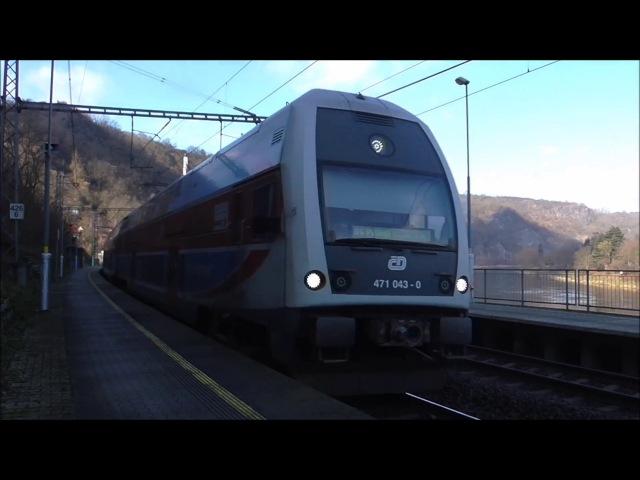 Šocení | Vlaky na zastávce Úholičky 4.2.2018
