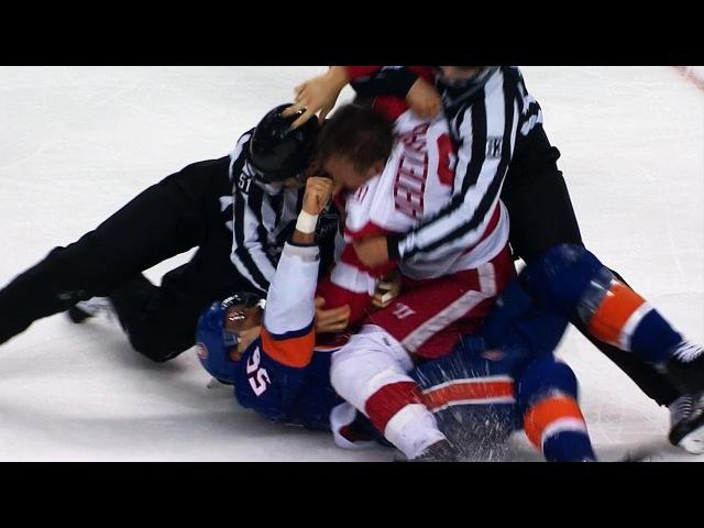 Boychuk wont stop punching at Abdelkader while on his back